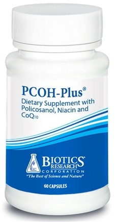 DROPPED: Biotics Research - PCOH-Plus with Policosanol Niacin and CoQ10 - 60 Capsules CLEARANCE PRICED