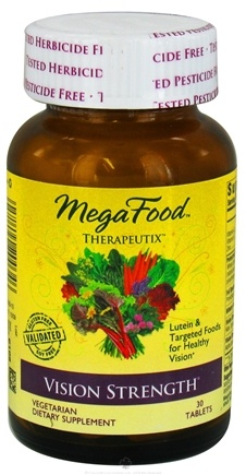 DROPPED: MegaFood - Therapeutix Vision Strength - 30 Vegetarian Tablets CLEARANCE PRICED