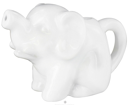 DROPPED: Harold Import - Porcelain Mini Elephant Creamer White - 2 oz. CLEARANCE PRICED