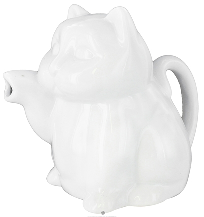 DROPPED: Harold Import - Porcelain Cat Creamer White - 8 oz. CLEARANCE PRICED