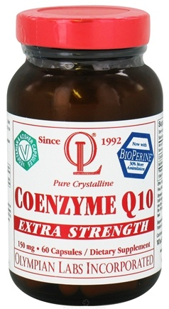 DROPPED: Olympian Labs - Coenzyme Q10 Extra Strength 150 mg. - 60 Capsules CLEARANCE PRICED