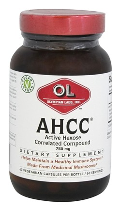 Olympian Labs - AHCC Active Hexose Correlated Compound 750 mg. - 60 Vegetarian Capsules