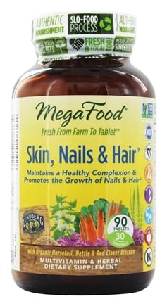 MegaFood - DailyFoods Skin Nails & Hair - 90 Vegetarian Tablets