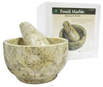 DROPPED: Nature's Artifacts - Mortar & Pestle Fossil Marble