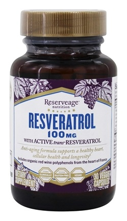 DROPPED: Reserveage Nutrition - Resveratrol 100 mg. - 30 Vegetarian Capsules CLEARANCE PRICED