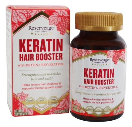 Reserveage Nutrition - Keratin Hair Booster - 60 Capsules