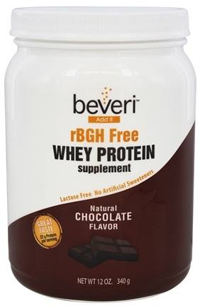 DROPPED: Beveri Nutrition - Whey Protein Supplement rBGH Free Natural Chocolate - 12 oz.