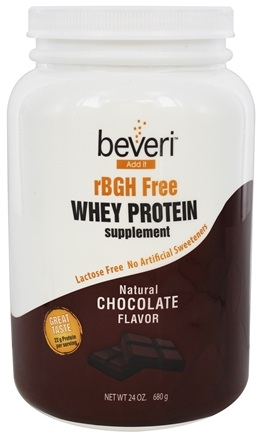 DROPPED: Beveri Nutrition - Whey Protein Supplement rBGH Free Natural Chocolate - 24 oz.