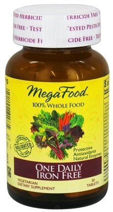 DROPPED: MegaFood - DailyFoods One Daily Iron Free - 30 Vegetarian Tablets CLEARANCE PRICED