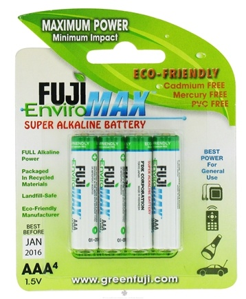 DROPPED: Fuji EnviroMAX - Super Alkaline Batteries AAA - 4 Pack CLEARANCE PRICED