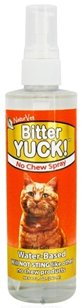 DROPPED: NaturVet - Bitter Yuck! No Chew Spray For Cats - 8 oz. CLEARANCE PRICED
