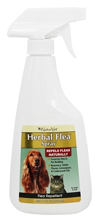 DROPPED: NaturVet - Herbal Flea Spray For Dogs & Cats - 16 oz.