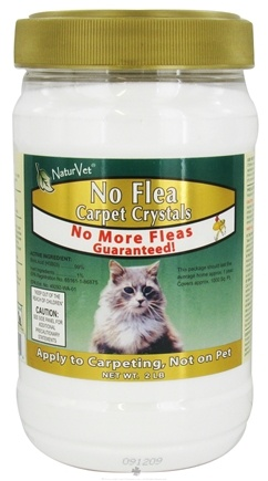 DROPPED: NaturVet - No Flea Carpet Crystal Powder For Cats - 2 lbs. CLEARANCE PRICED
