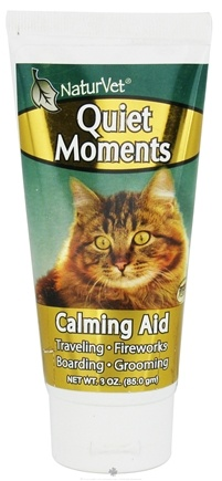DROPPED: NaturVet - Quiet Moments Calming Aid Gel For Cats - 3 oz. CLEARANCE PRICED