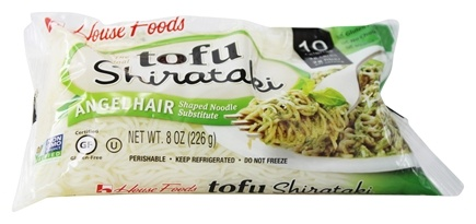 House Foods - Tofu Shirataki Noodles Angel Hair Shaped Noodle Substitute - 8 oz.