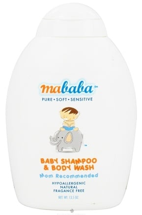 DROPPED: Mababa - Baby Shampoo & Body Wash Fragrance-Free - 13.5 oz.