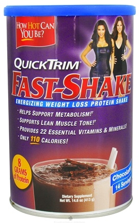 Zoom View - QuickTrim Fast-Shake Energizing Weight Loss Protein Shake