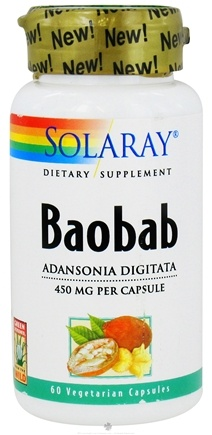 DROPPED: Solaray - Baobab 450 mg. - 60 Vegetarian Capsules CLEARANCE PRICED