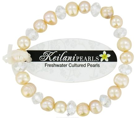 Zoom View - Keilani Pearls Bracelet Good Health and Hapiness