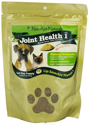 DROPPED: NaturVet - Joint Health Powder Level 1 For Cats & Dogs - 9 oz.