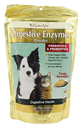 DROPPED: NaturVet - Digestive Enzymes Powder For Dogs & Cats - 10 oz.