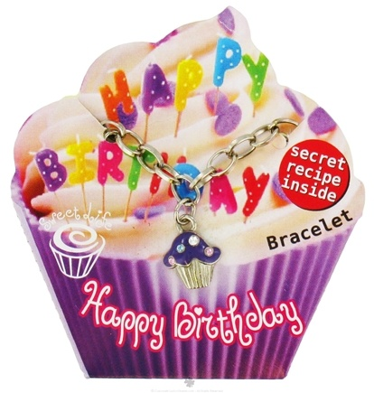 DROPPED: Zorbitz - Sweet Life Cupcake Bracelet Happy Birthday - CLEARANCE PRICED