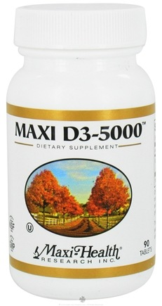 DROPPED: Maxi-Health Research Kosher Vitamins - Maxi D3-5000 IU - 90 Tablets CLEARANCE PRICED