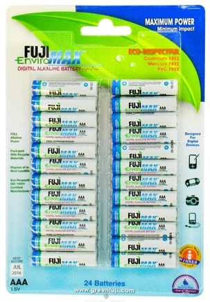DROPPED: Fuji EnviroMAX - Digital Alkaline Batteries AAA - 24 Pack CLEARANCE PRICED