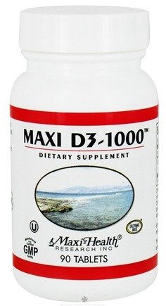 DROPPED: Maxi-Health Research Kosher Vitamins - Maxi D3-1000 IU - 90 Tablets CLEARANCE PRICED