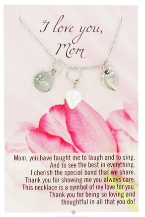 DROPPED: Zorbitz - Necklace with Meaningful Poem I Love You Mom - CLEARANCE PRICED