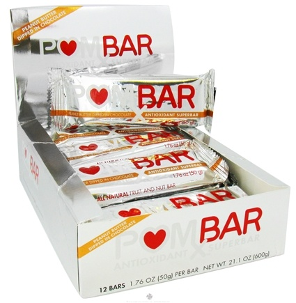 DROPPED: Pom Wonderful - POMx Bar Antioxidant Superbar Peanut Butter Dipped in Chocolate - 50 Grams