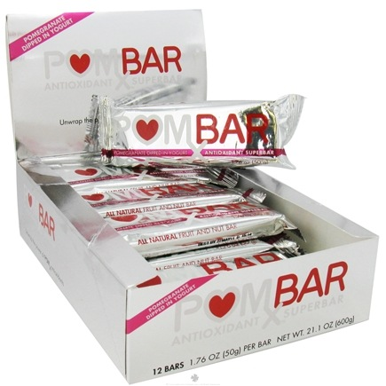 DROPPED: Pom Wonderful - POMx Bar Antioxidant Superbar Pomegranate Dipped in Yogurt - 50 Grams
