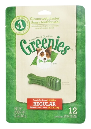 DROPPED: Greenies - Dental Chews For Dogs Regular (For Dogs 25-50 lbs.) - 12 Chews CLEARANCE PRICED