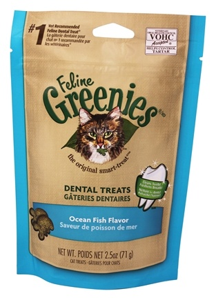 Greenies - Feline Dental Treats Ocean Fish - 2.5 oz.