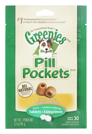 Greenies - Pill Pockets For Dogs Tablets Chicken Flavor - 3.2 oz.