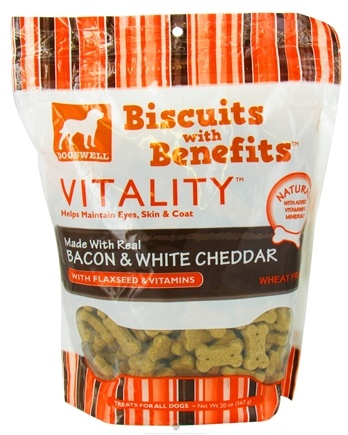 DROPPED: Dogswell - Vitality Biscuits With Benefits Bacon & White Cheddar - 20 oz. CLEARANCE PRICED
