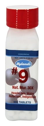 Hylands - Cell Salts #9 Natrum Muriaticum 30 X - 500 Tablets