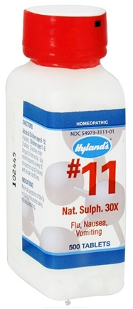 DROPPED: Hylands - Cell Salts #11 Natrum Sulphuricum 30 X - 500 Tablets CLEARANCE PRICED