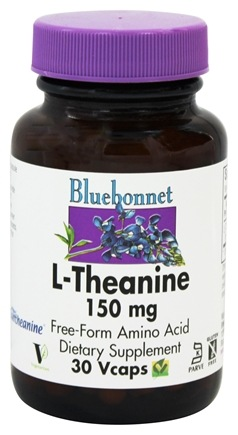 Bluebonnet Nutrition - L-Theanine 150 mg. - 30 Vegetarian Capsules