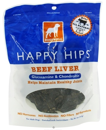 DROPPED: Dogswell - Happy Hips With Glucosamine & Chondroitin Beef Liver Jerky - 5 oz.