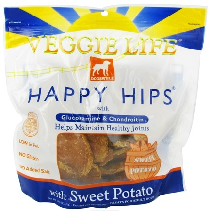 DROPPED: Dogswell - Veggie Life Happy Hips With Glucosamine & Chondroitin Sweet Potato Jerky - 15 oz. CLEARANCE PRICED
