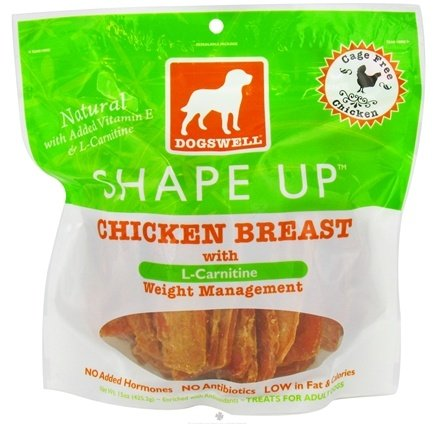 DROPPED: Dogswell - Shape Up With L-Carnitine Chicken Breast Jerky - 15 oz. CLEARANCE PRICED