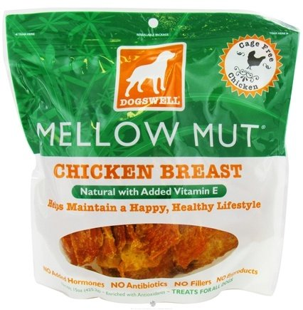 DROPPED: Dogswell - Mellow Mut Natural With Added Vitamin E Chicken Breast Jerky - 15 oz. CLEARANCE PRICED