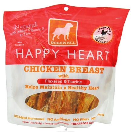 DROPPED: Dogswell - Happy Heart With Flaxseed & Taurine Chicken Breast Jerky - 15 oz. CLEARANCE PRICED