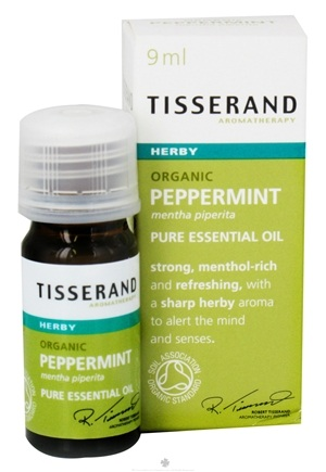 DROPPED: Tisserand Aromatherapy - Pure Essential Oil Peppermint Organic Herby - 0.32 oz. CLEARANCE PRICED