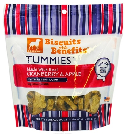 DROPPED: Dogswell - Tummies Biscuits With Benefits With Fresh Yogurt Cranberry & Apple - 4 oz. CLEARANCE PRICED