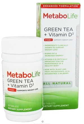 Zoom View - Green Tea   Vitamin D3 Stage 1 Weight Loss Support