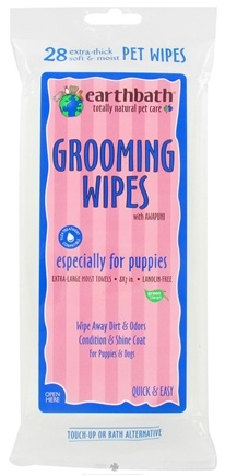 DROPPED: Earthbath - Grooming Wipes With Awapuhi For Puppies - 28 Wipe(s) CLEARANCE PRICED