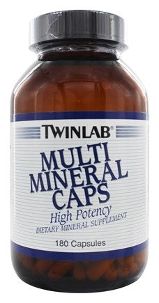DROPPED: Twinlab - Multi Mineral Caps - 180 Capsules