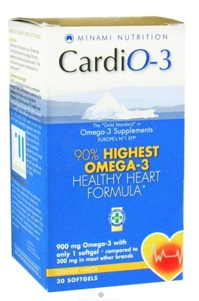 DROPPED: Minami Nutrition - CaridO-3 90% Highest Omega-3 Healthy Heart Formula Orange Flavor 900 mg. - 30 Softgels CLEARANCE PRICED
